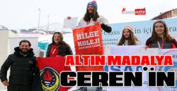 Altın madalya Ceren'in