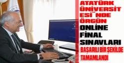 """Atatürk Üniversitesi""""nde örgün öğretimdeki online final sınavları başarılı bir şekilde tamamlandı"""