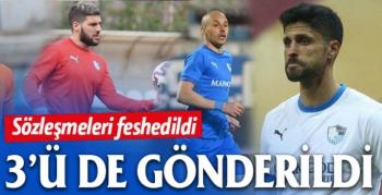 BB Erzurumspor 3 futbolcu ile yollarını ayırdı