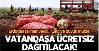 Cumhurbaşkanı Erdoğan'dan çiftçiye büyük müjde