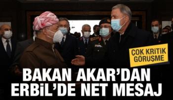 Hulus Akar, Barzani'yle görüştü